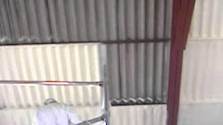 Spray Foam Asbestos Roof