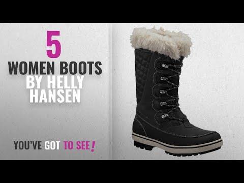 Top 10 Helly Hansen Women Boots [2018]: Helly Hansen Women's Garibaldi Boot,Black/Natura/Feather