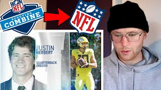 Rugby Player Reacts to JUSTIN HERBERT Full 2020 NFL Scouting Combine Workout!