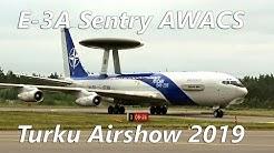 E-3A Sentry AWACS tutkavalvontakone saapuu Turun Lentonäytökseen 2019