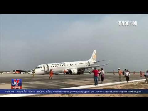"""Myanmar: Máy bay chở gần 90 người hạ cánh bằng """"bụng"""""""
