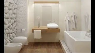 Дизайн белой ванной комнаты