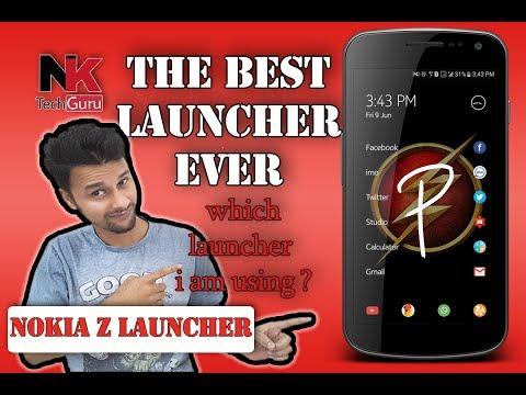 (Hindi & Urdu)Nokia Z launcher, Best Launcher that never got release full reviwe.