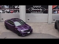 Mercedes C63 gets wrapped in Midnight Purple