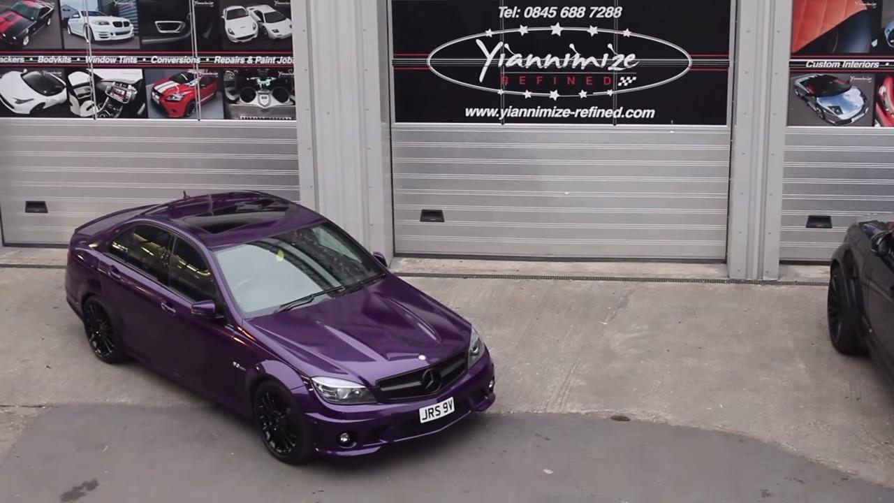 Mercedes C63 Gets Wred In Midnight Purple