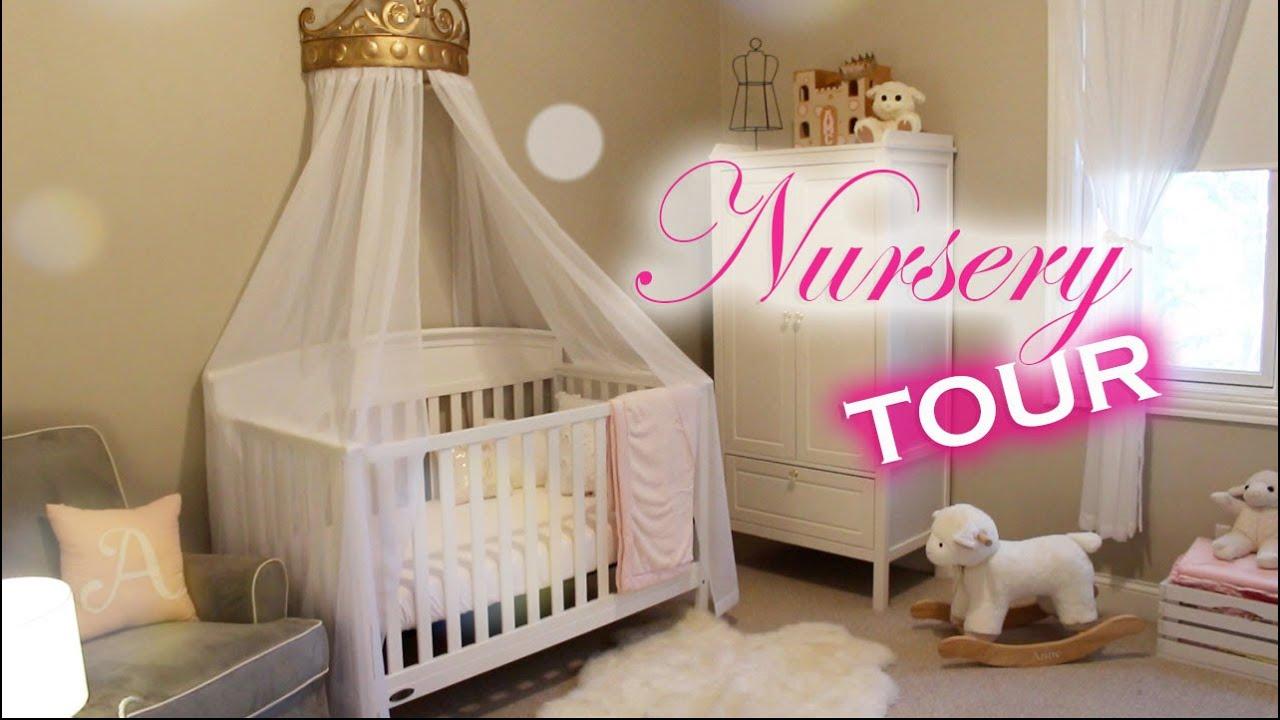 BABY GIRL NURSERY REVEAL  | Modern Princess Theme ...