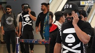 Stylish Star Allu Arjun Back in HYD Spotted at airport | Telugu Airport Videos