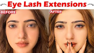 Fake Eye lash extensions | (bilkul bhi painful Nahi hai) | MUSKAN SHARMA