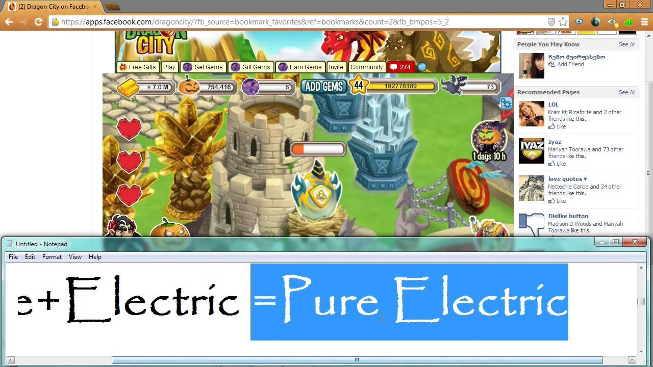 Dragon City How To Breed Pure Electric Easy
