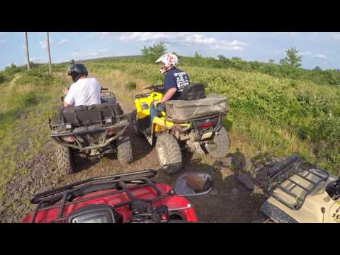 NEPA Quad Squad Ride part 666 -- 2mph STUMP HIT