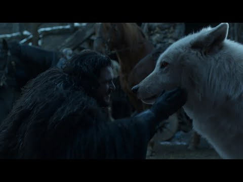 Jon Snow Reunited with Ghost & Tormund at Knights Watch Wall  - Game Of Thrones Season 8 Episode 6