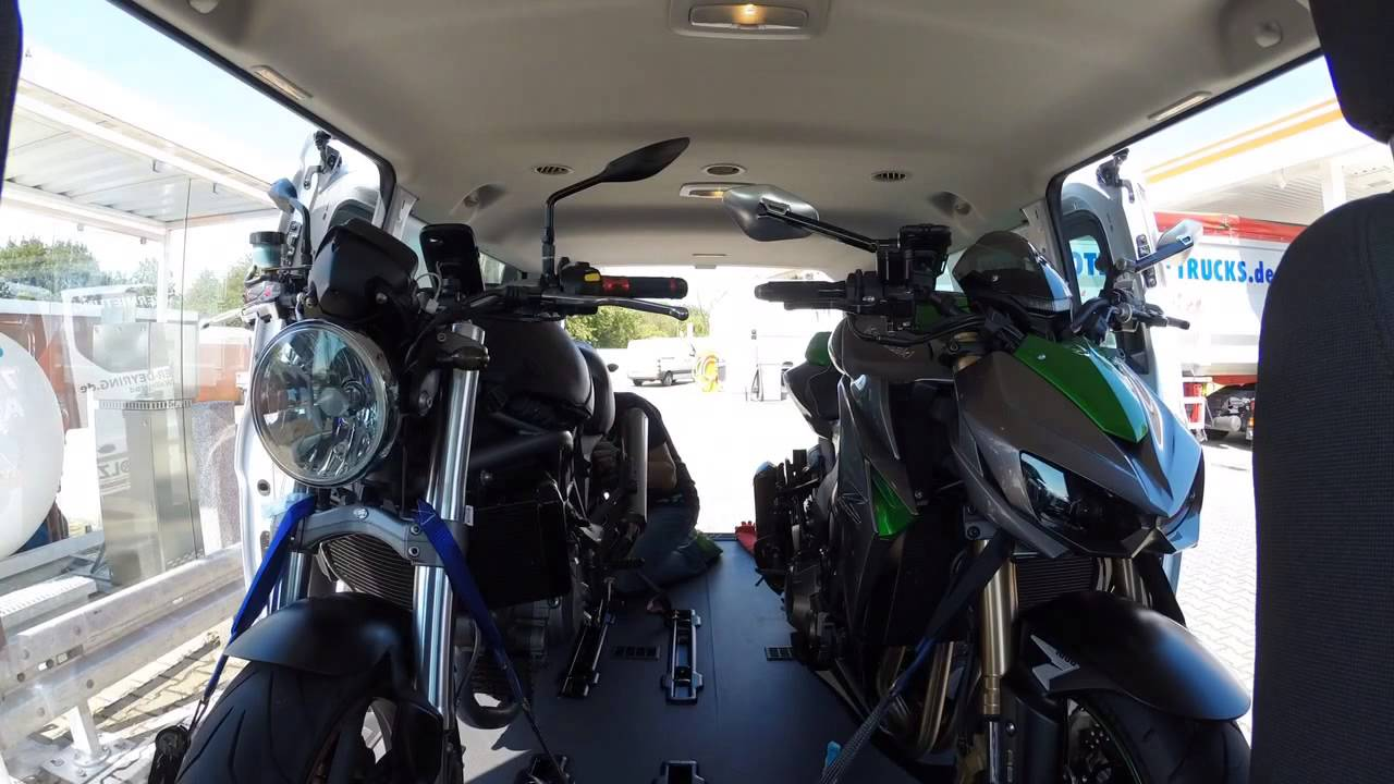 Motorrad Transport Im Ford Transit Custom Youtube