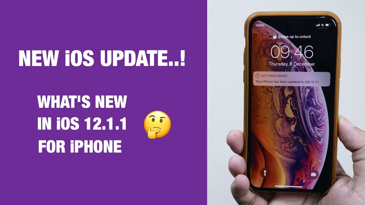 iOS 12.1.1 — Top New Features