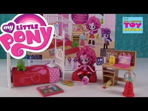 MLP Pinkie Pie Slumber Party Bedroom Set Equestria Girls Minis | PSToyReviews