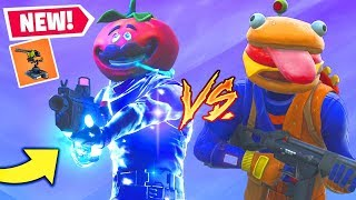 "New Fortnite ""FOOD FIGHT"" Game Mode & Turret Gameplay - Tomato VS Durr Burger!"