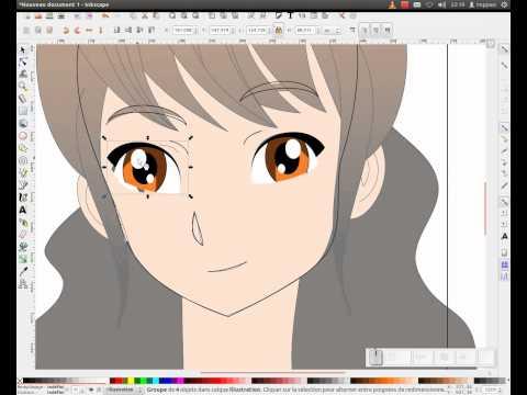 Tuto inkscape : réalisation d'un visage féminin (manga)
