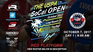 The USPA SoCal Open | Day 1 Red Platform | Powerlifting Meet
