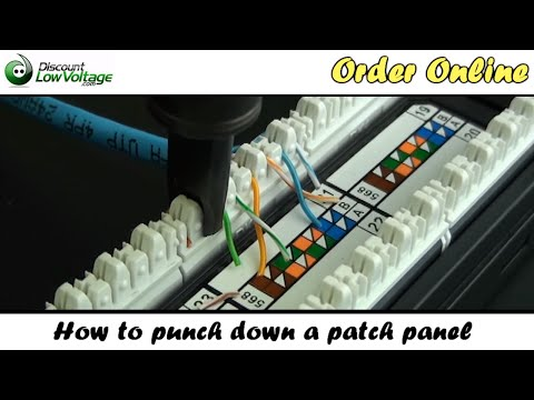 How to Punch Down a Network Ethernet Patch Panel