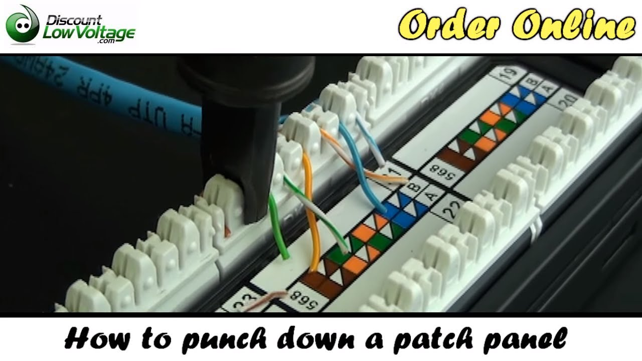 How To Punch Down A Network Ethernet Patch Panel Youtube Cat5e Datajack Wiring Pattern Howto Patchpanel
