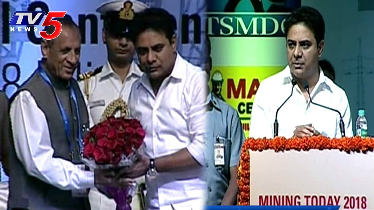 Minister KTR In Mining Today International Conference | Hyderabad | TV5 News #1