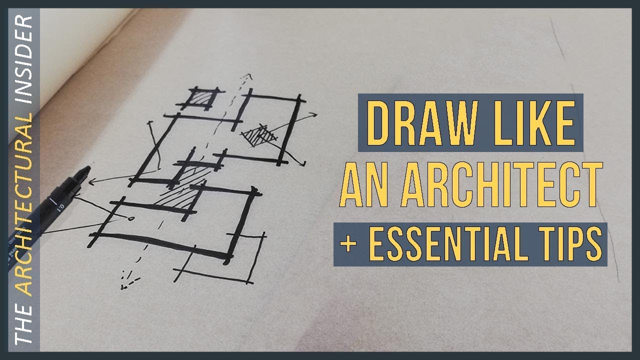 draw like an architect essential drawing tips architectural student drawing guide [ 1280 x 720 Pixel ]