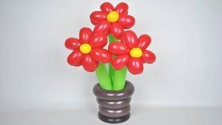 Подставка для цветов из шаров / DIY Stand for flowers of balloons(Как сделать подставку для цветов из шаров. DIY How to make a stand for flowers of balloons. ☞ YouTube: http://www.youtube.com/user/sharovedas ..., 2016-12-21T15:00:03.000Z)
