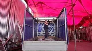 Сдвижной механизм крыши тента на грузовик «Газель»(, 2015-09-08T16:55:52.000Z)