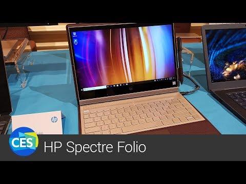 Luxusní HP Spectre Folio V Bordeaux Variantě živě Z CES 2019