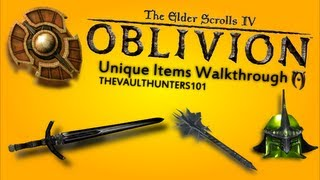 Oblivion - Unique Items Walkthrough - Unique Armour - (Helmets)