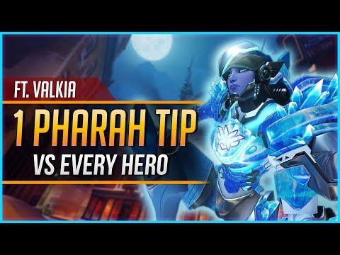 1 PHARAH TIP for EVERY HERO ft. Valkia
