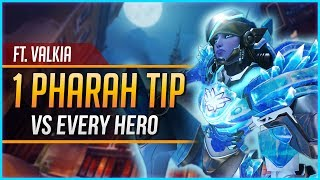 1 PHARAH TIP for EVERY HERO ft. Valkia