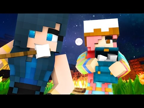 Minecraft Sleepover - BACKYARD CREEPY SLUMBER PARTY! (Minecraft Roleplay)