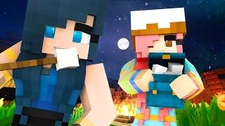 Minecraft Sleepover - BACKYARD CREEPY SLUMBER PARTY! (Minecraft Roleplay)