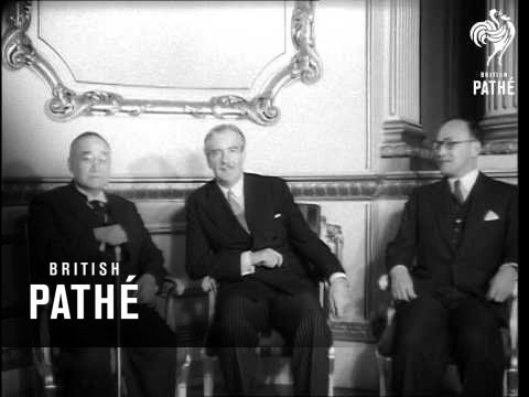Sir Anthony Eden Gives Reception To Japanese Premier (1954)