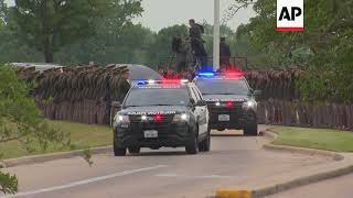 Bush Procession Arrives at Final Resting Place