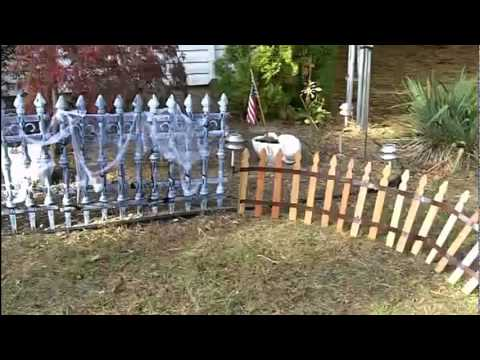 Halloween Graveyard Fence Youtube