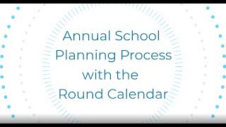 Annual School Planning Process with the Round Calendar