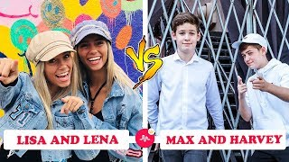 Ultimate Lisa and Lena Vs Max and Harvey | Musically Compilation 2018