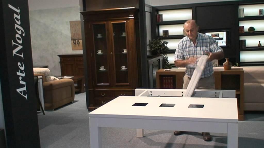 Mesa extensible mecanismo lateral nuevo mecanismo - Fabricas de muebles en sonseca ...