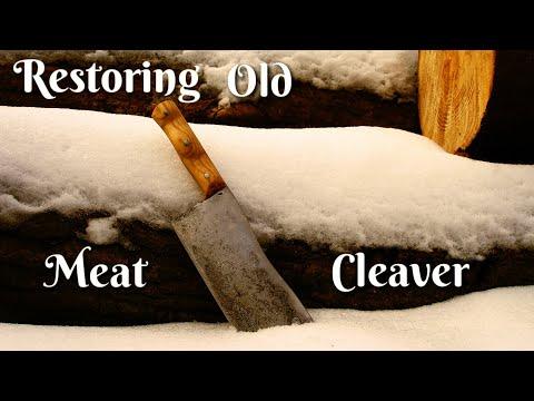 Restoring Old Broken Vintage Meat Cleaver (Knife)