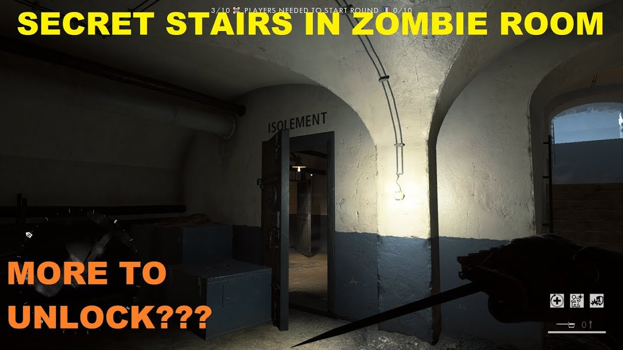 Zombie Room Hidden Secret Stairs Battlefield 1 Easter Eggs