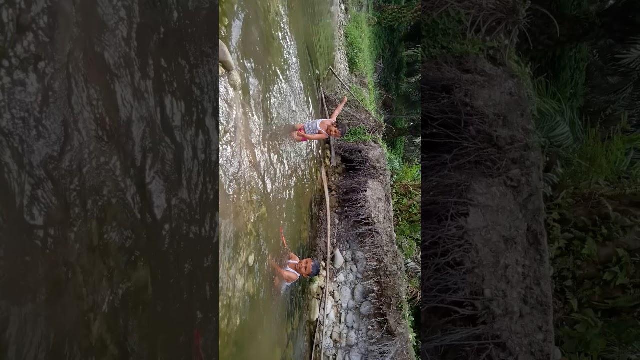 Mandi di sungai kecil yg jernih airnya - YouTube