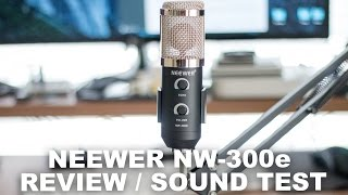 neewer nw 300e microphone review sound test