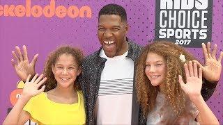Michael Strahan 2017 Kids' Choice Sports Awards Orange Carpet