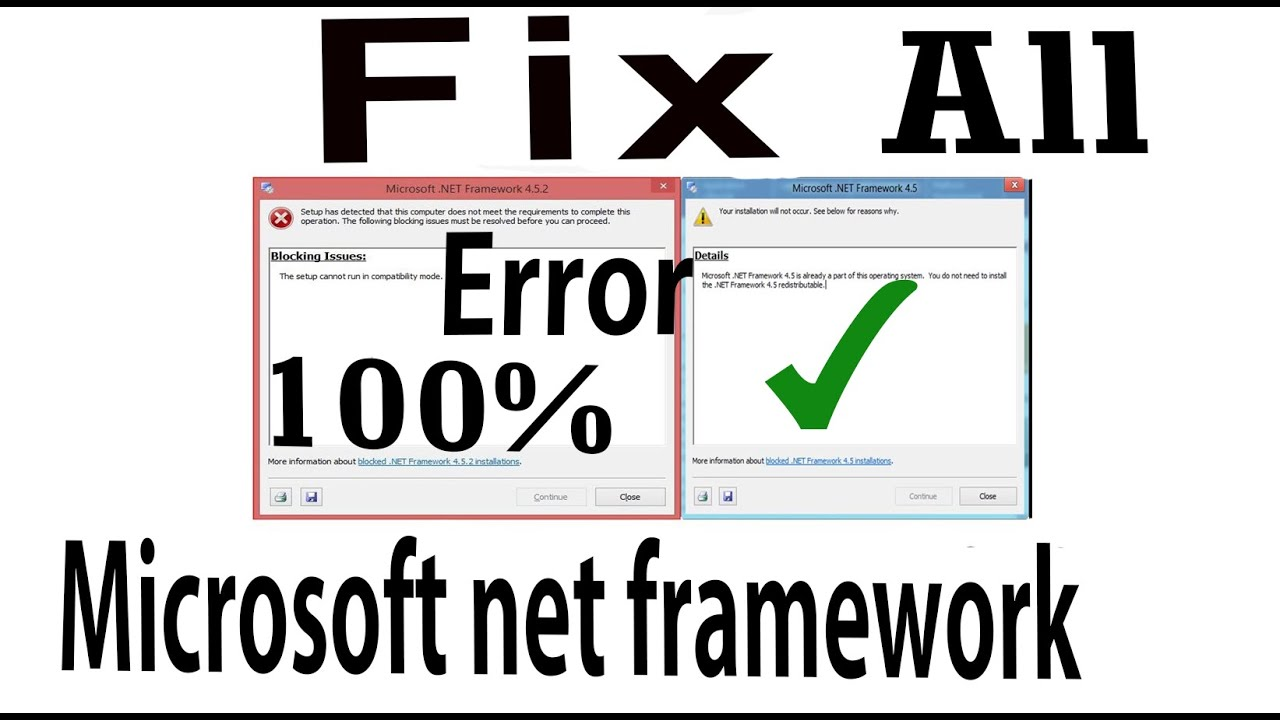SOLVE ALL MICROSOFT NET FRAMEWORK REQUIRED AND BLOCKING ISSUES ...