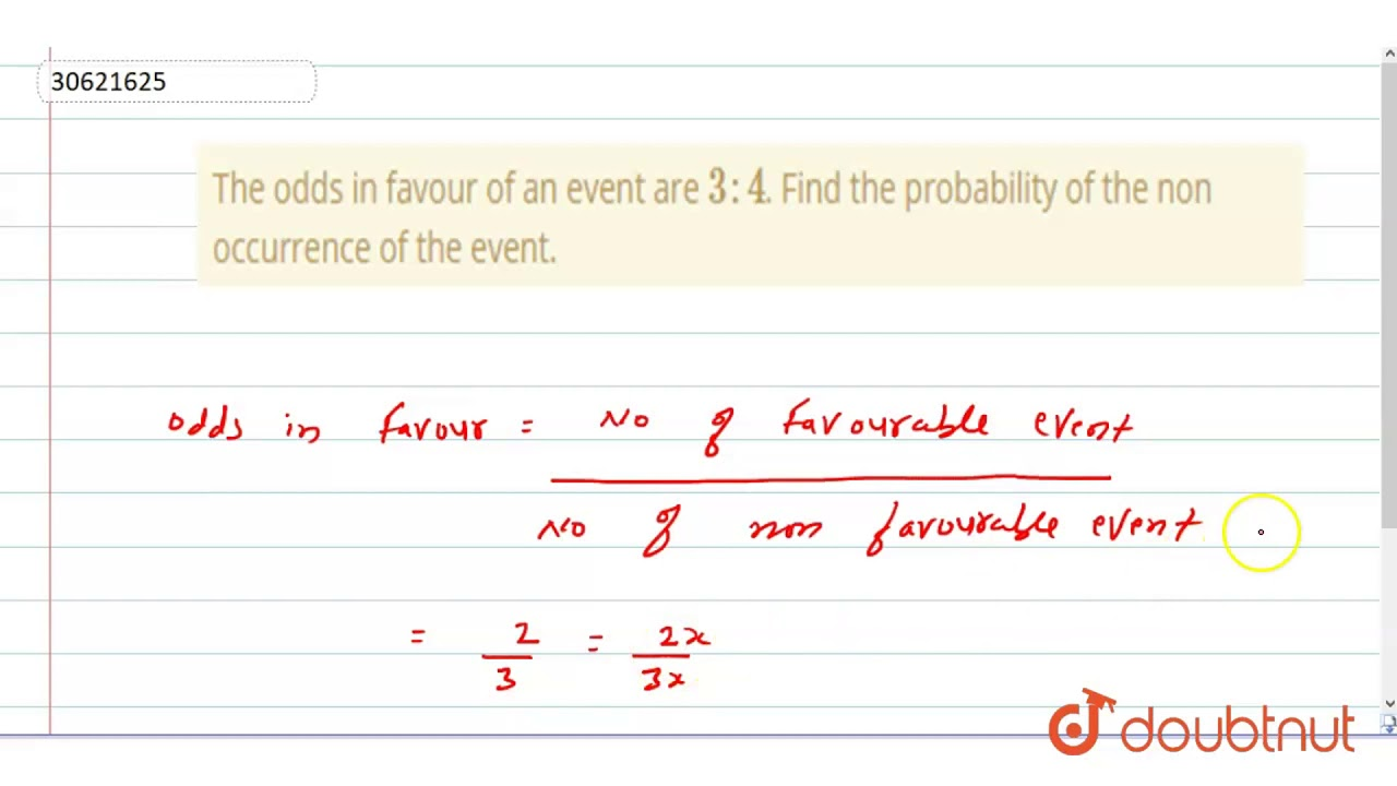 Odds For An Event