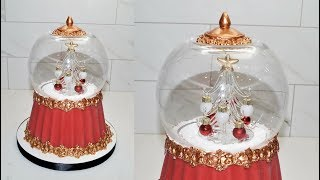 Cake decorating tutorials | how to make a SNOW GLOBE CAKE | Sugarella Sweets