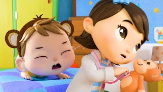 5 Little Monkeys NEW   Nursery Rhymes & Kids Songs!   Baby Songs   Little Baby Animals