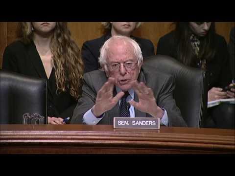 Sanders Questions EPA Administrator Nominee Scott Pruitt