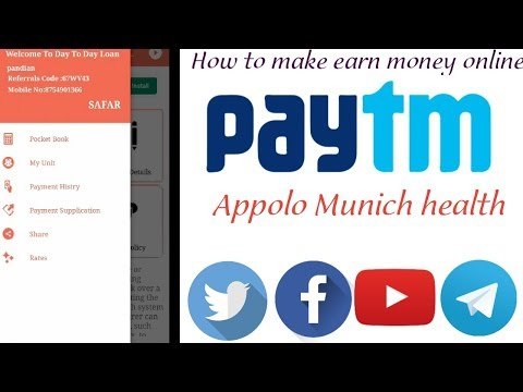 how to make earn money online mobile app apollo munich health
